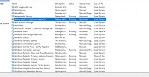 Serwisy w systemie Windows